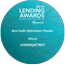 """Best Credit Information Provider"" - Lending Awards 2019"