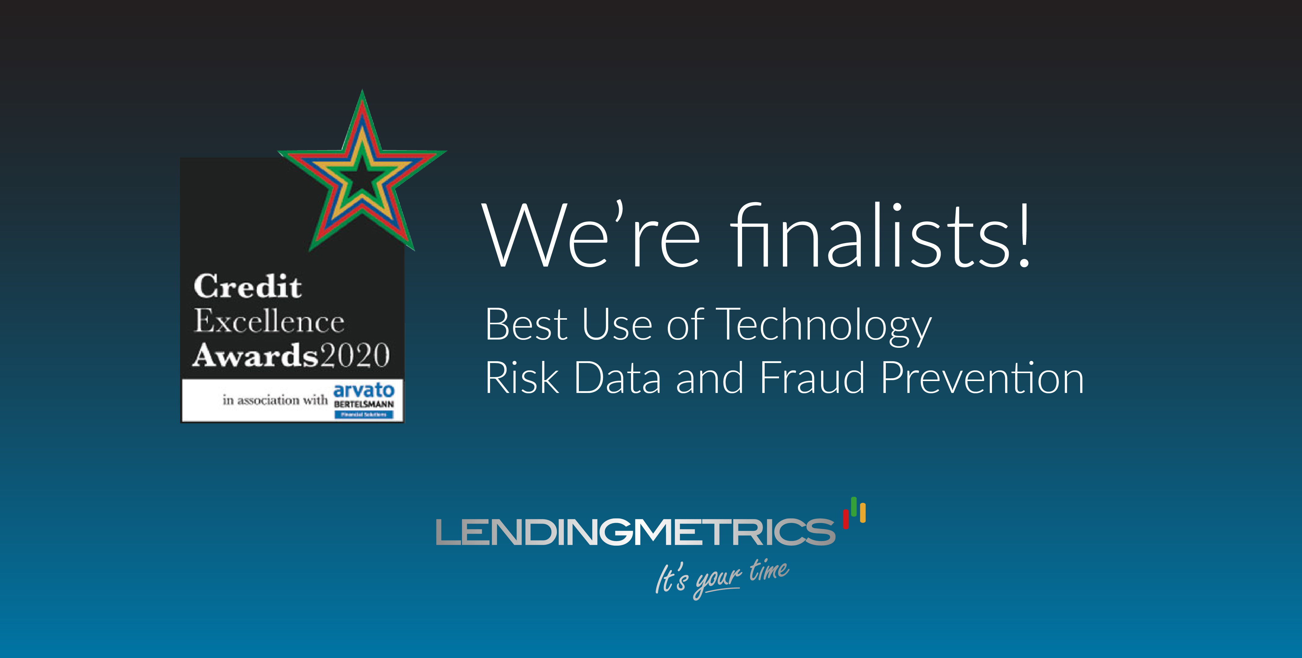 LendingMetrics announced as finalists for two awards at Credit Excellence Awards 2020