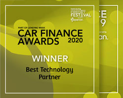 """Best Technology Partner"" - Car Finance Awards 2020 and ""Innovation Award"" - 2019"